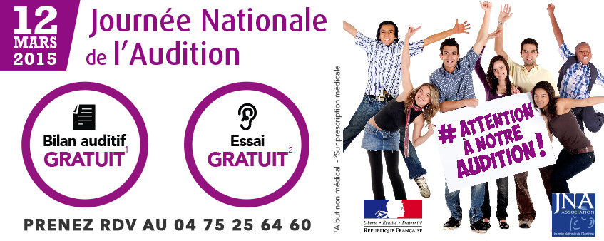 Banner Journée Natinale de l'Audition 2015